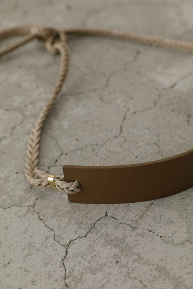 Plate braid leather belt