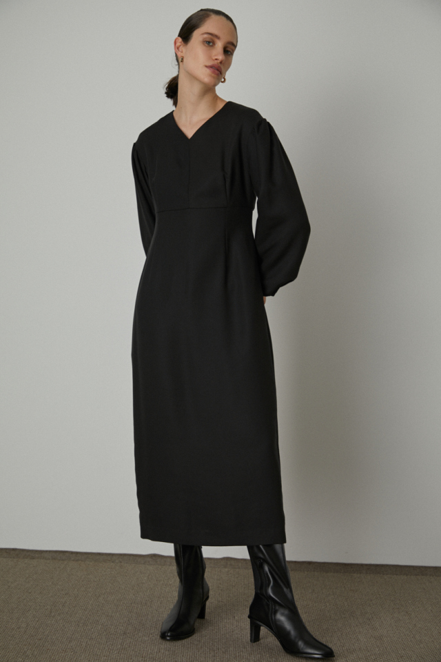 Curve line long dress