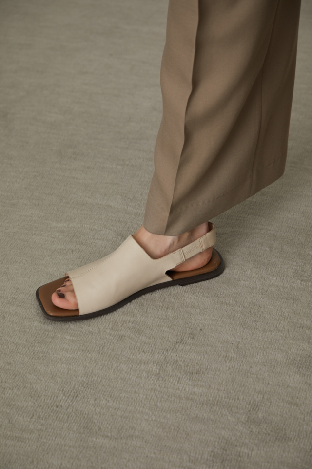 Square toe covered sandal