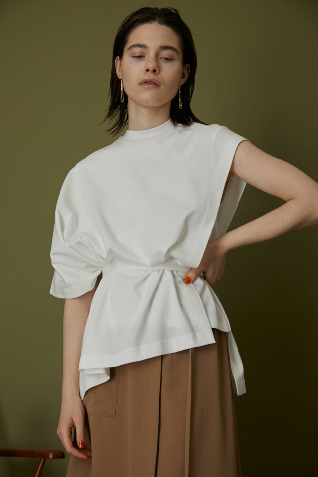 【online limited】Double cloth ponch tops