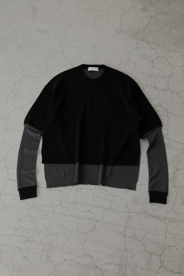 Sleeve design knit tops