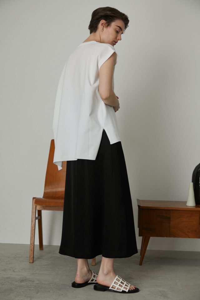 Asymmetry square knit tops