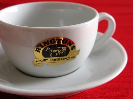 ◆英国紅茶 Ringtons リントンズ 【ロゴ入りのカップ&ソーサー】6客セット