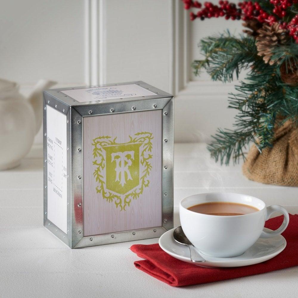 ◆英国紅茶 リントンズ 新作紅茶缶 【ティーチェストキャディー】