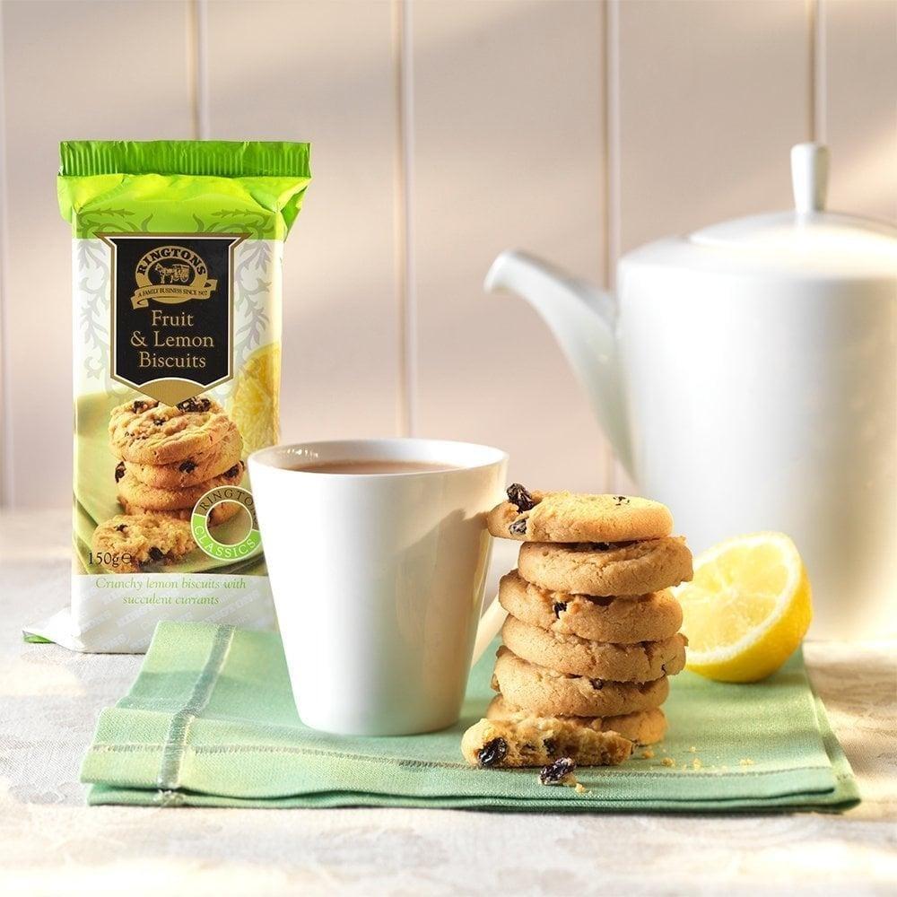 ◆英国紅茶 Ringtons リントンズ 【フルーツ&レモンビスケット 150g】