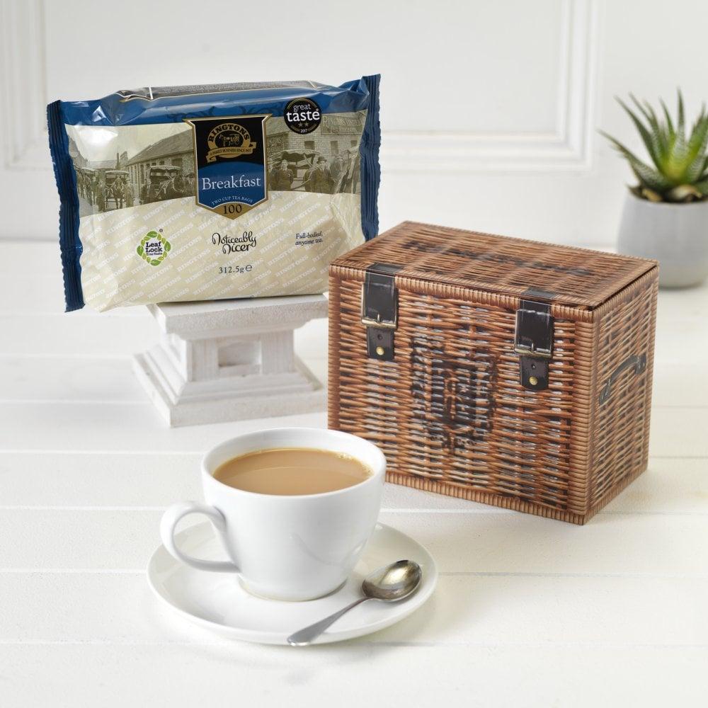 ◆英国紅茶 リントンズ 紅茶缶 【ハンパーティーキャディー】