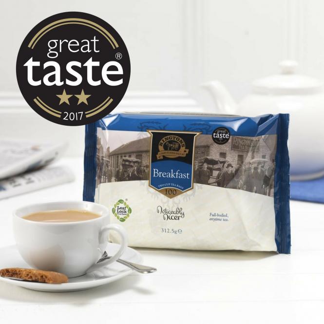 ■英国紅茶 Ringtons リントンズ 【BREAKFAST ブレックファスト】 100包200杯分 300g