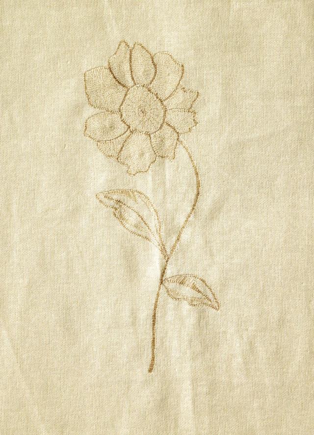 ひとはな刺繍カーテン