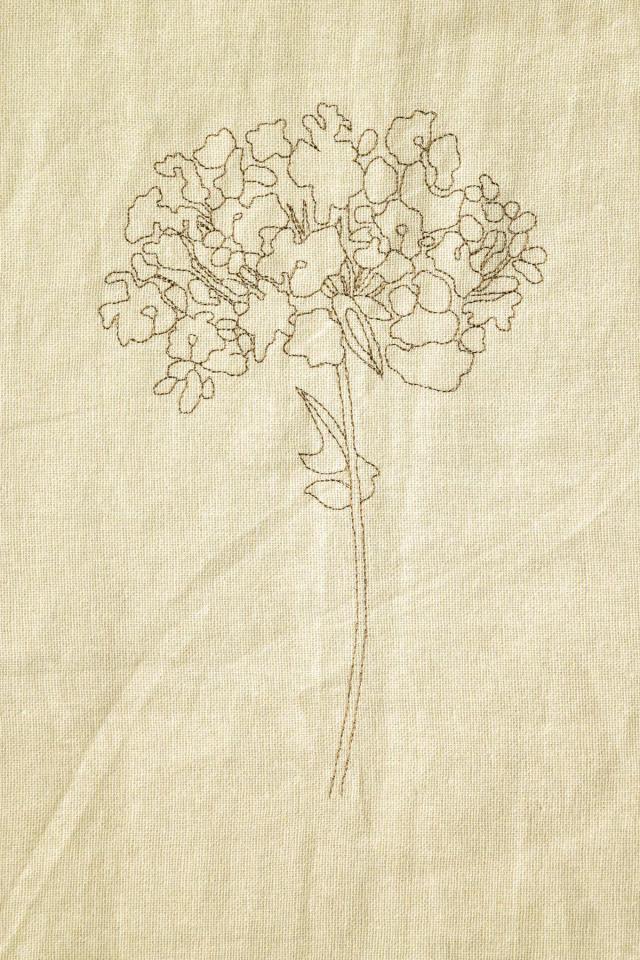 刺繍カーテン オルタンシア①全体