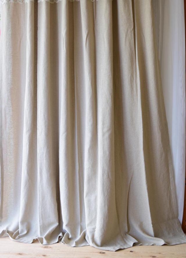 ナチュラルカーテン③ リノフレンチグレー
