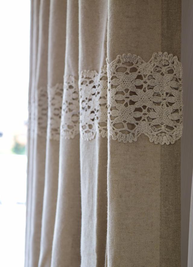 飾りレール付きカーテン⑤ リノフレンチグレー