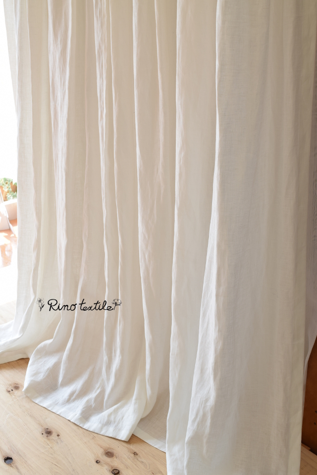 天然素材カーテン