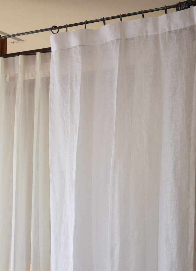 リネンカーテン スペイン産ホワイト