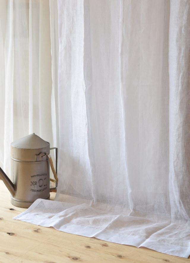 麻カーテン スペイン産ホワイト