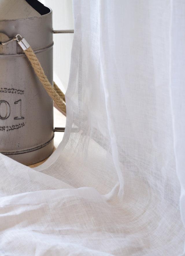 モダンレースカーテン スペン産ホワイト