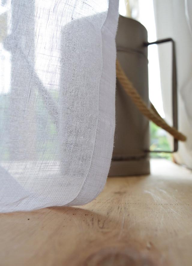 麻のカーテン スペイン産ホワイト