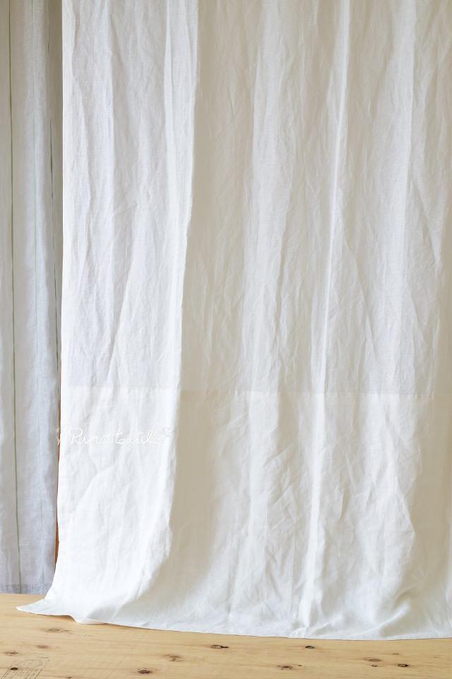 無垢の家に合う麻カーテン リノポワール