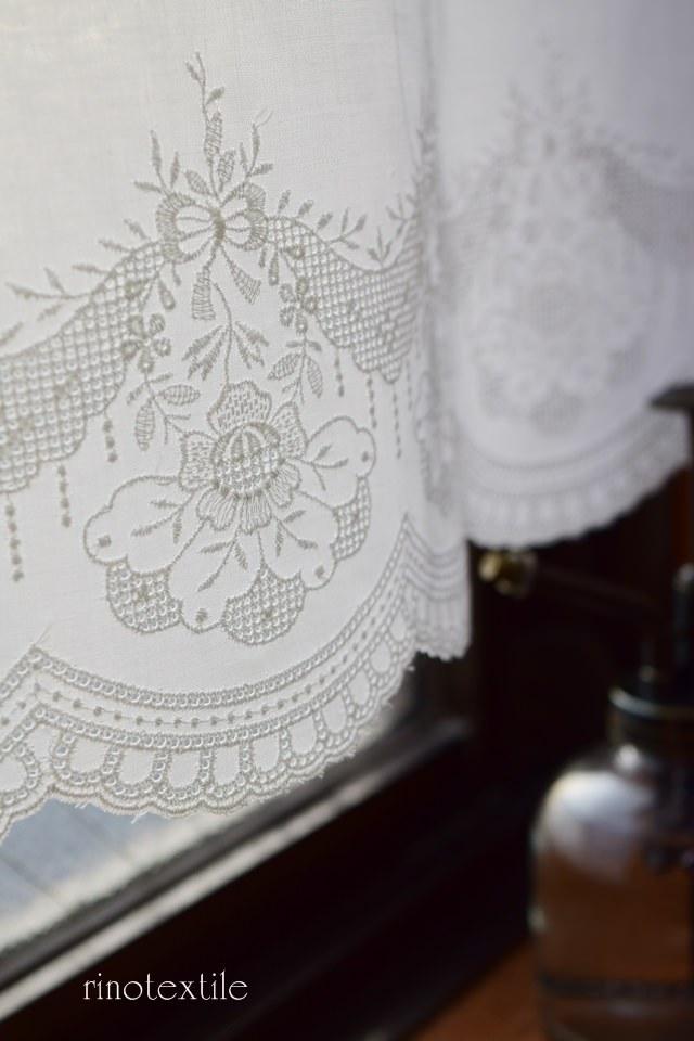 ホワイトカフェカーテン