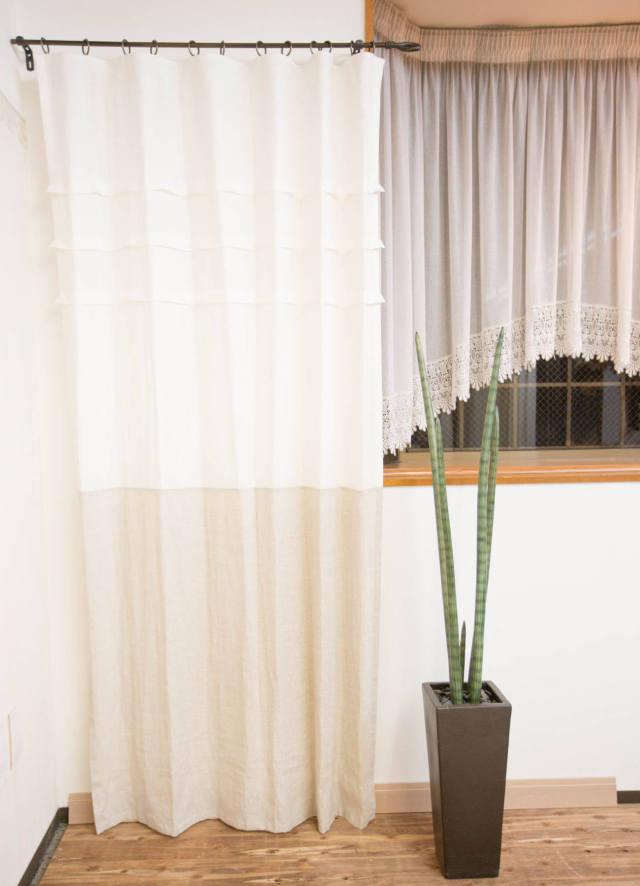 リネンホワイトカーテン