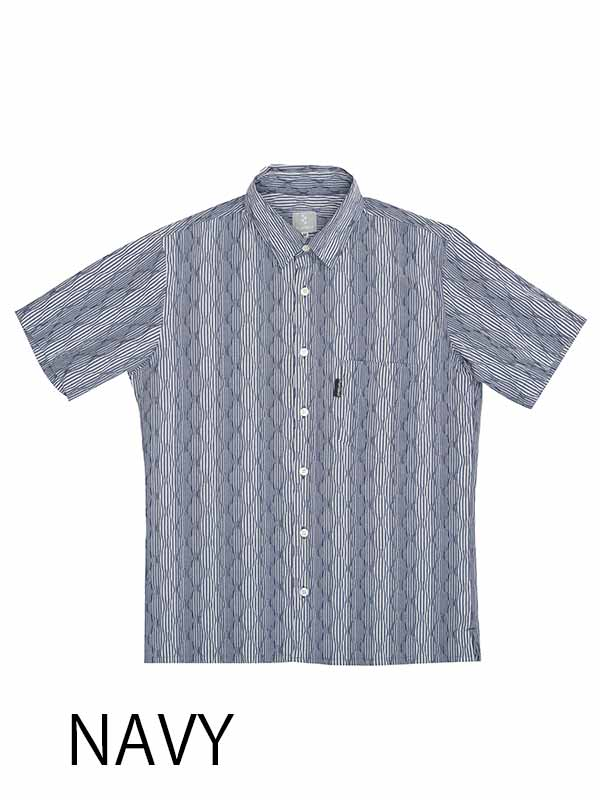 【エアウェーブシャツ】背ポケット 通気 ストレッチ 吸汗速乾 半袖 日本製 No.2129【送料無料】