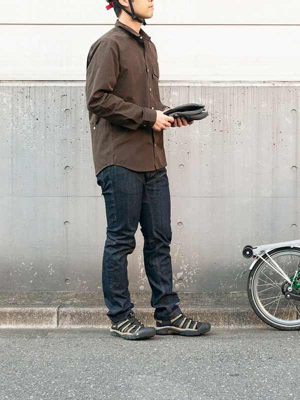 【ワックスドツアラーシャツ】ワックスコーティング T/Cウェザー 防風 はっ水 背ポケット 自転車 アウトドア No2154【送料無料】