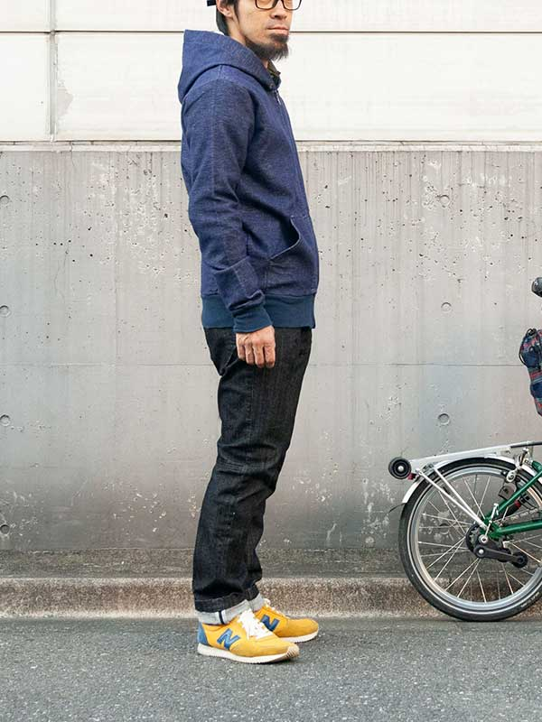 【サイクリストフーディー】二重織起毛 スウェット風 タイトフィット 背ポケット No.2161【送料無料】
