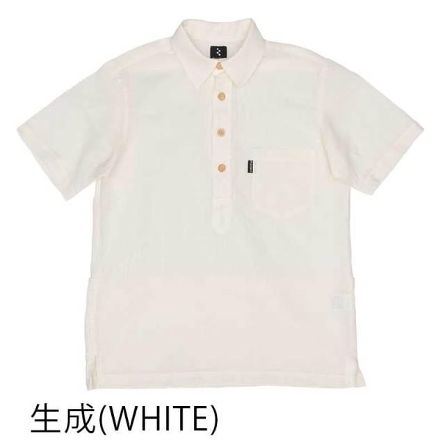 【和紙クルーズシャツ】半袖 プルオーバー 高通気性 綿x和紙ガーゼ 吸汗速乾 背ポケット 日本製 No.2173【送料無料】