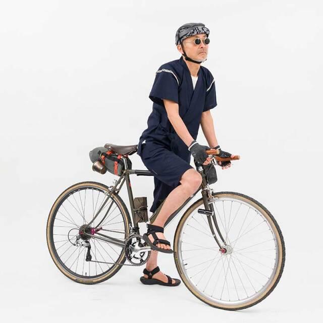 【THE JINBEI】甚平 吸汗速乾・接触冷感 Coolmax 背ポケット アウトドア 自転車 サイクリング 上下セット日本製 No.2185【送料無料】