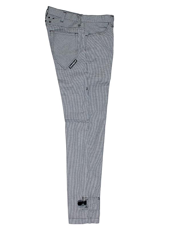 リンプロジェクト チドリ柄 千鳥 ストレッチ サイクル ロングパンツ 裾止めクリップ付き