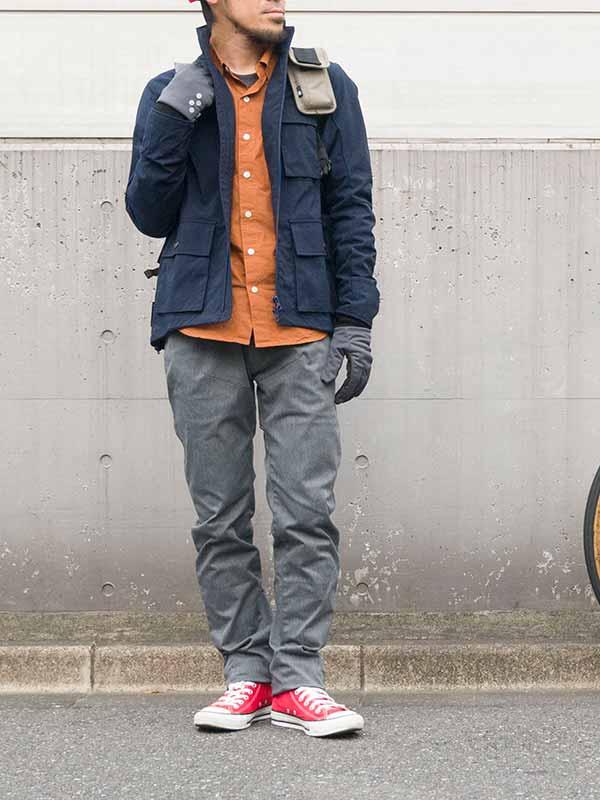 【ストレッチサイクルロングパンツ スペシャルエディション】ストレッチチノ 吸汗 速乾 裾止め サドルパッチ No.3161 日本製【送料無料】