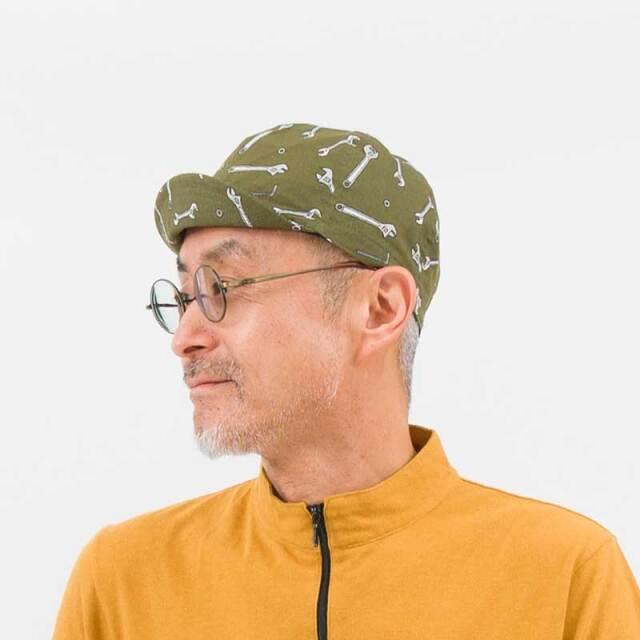 【プリントサイクルキャップ】 リンプロジェクト カスクやヘルメットの下に 雨や日光から目を守る 日本製 No.4520【ネコポス対応】