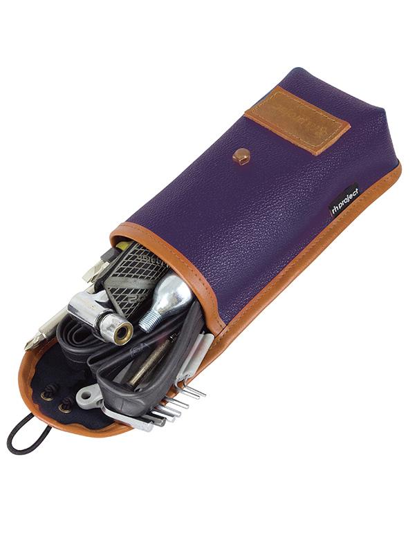 リンプロジェクト チューブケース シボ加工PVCレザー クラシカルツーリングアイテム お洒落にチューブや工具を収納 No5067