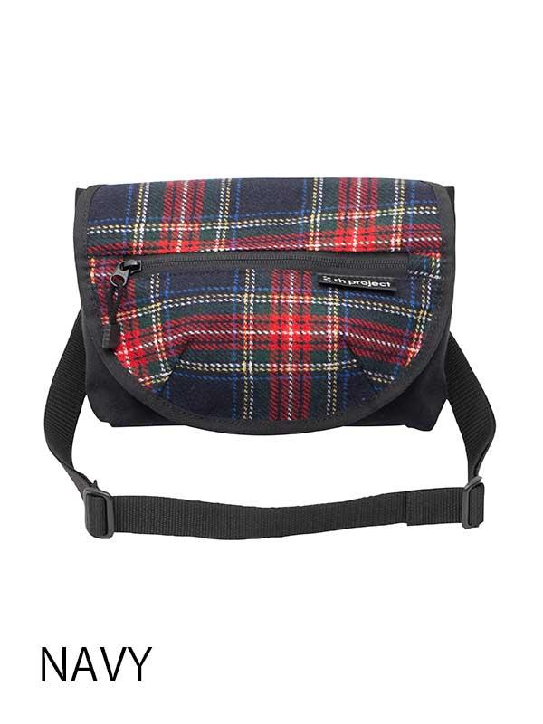【3wayハンドルバッグ ツイード】 リンプロジェクト ハンドル装着 ミニメッセンジャー ウエストバッグ No.5091