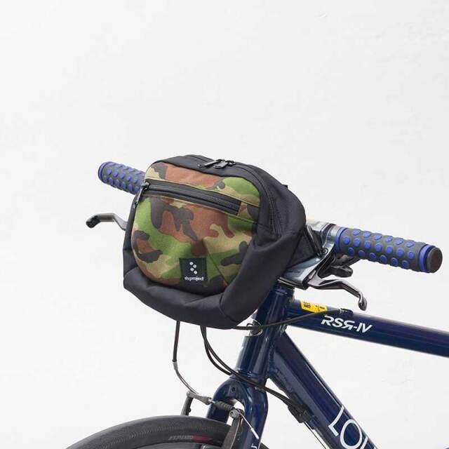 【2WAYフロントバッグ カモフラ】ショルダー&ハンドルバッグ ロードやクロスバイク、ミニベロ ベルクロ取付け No.5097 日本製