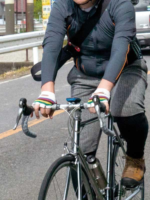 【サイクルメッシュグローブ】リンプロジェクト アルカンシエル(虹)カラー クラシックスタイル 本革 衝撃吸収剤 No.8020