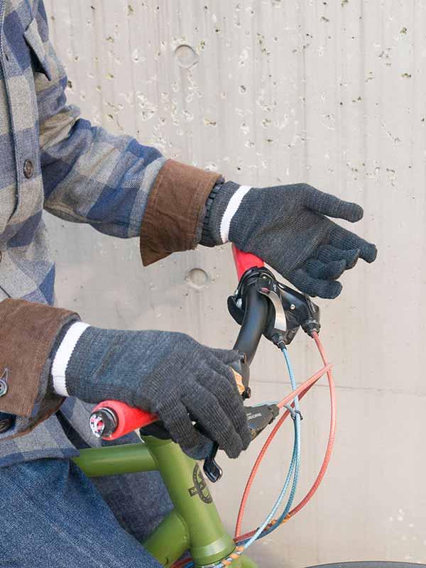 【和紙ウールグローブ】和紙繊維 ウール 保温 吸湿 吸汗速乾 フルフィンガー インナーグローブ 日本製 No.8029