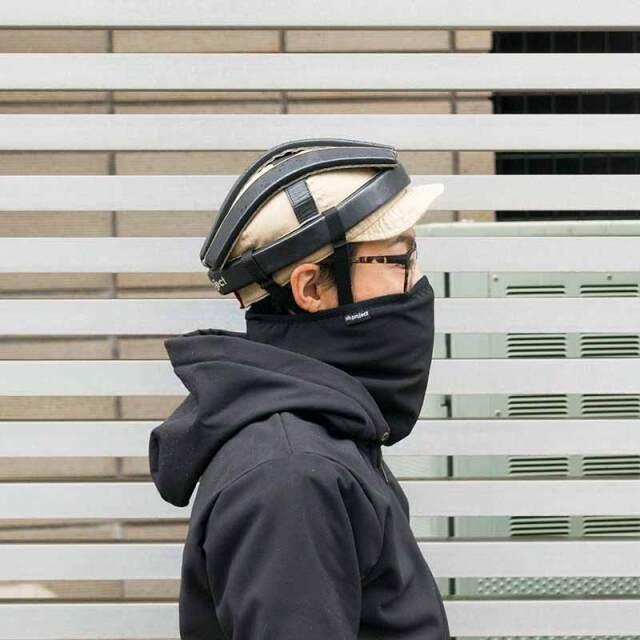 【ネックウォーマー】 鬼起毛 防風 保温 毛足の長いファー素材 ヘルメット装着時もベルクロで簡単着脱 No.8034