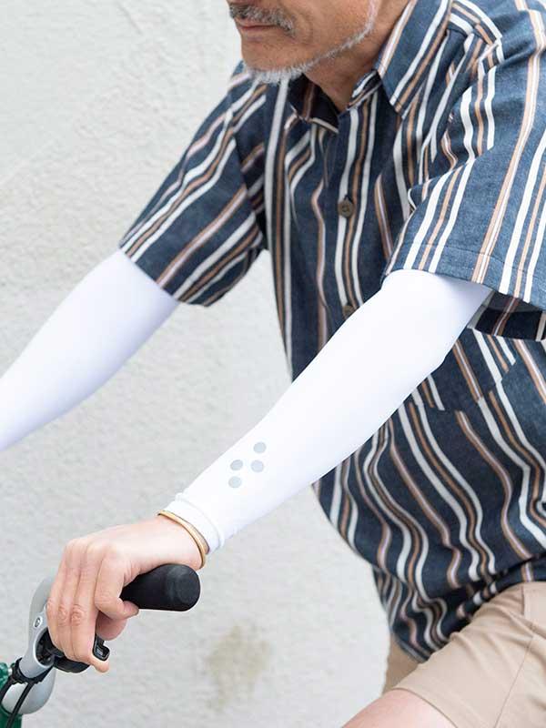 【アームクーラー】アームカバー フリーサイズ 防止外線 UPF 50+ 吸汗速乾 冷却効果 No.8038 日本製