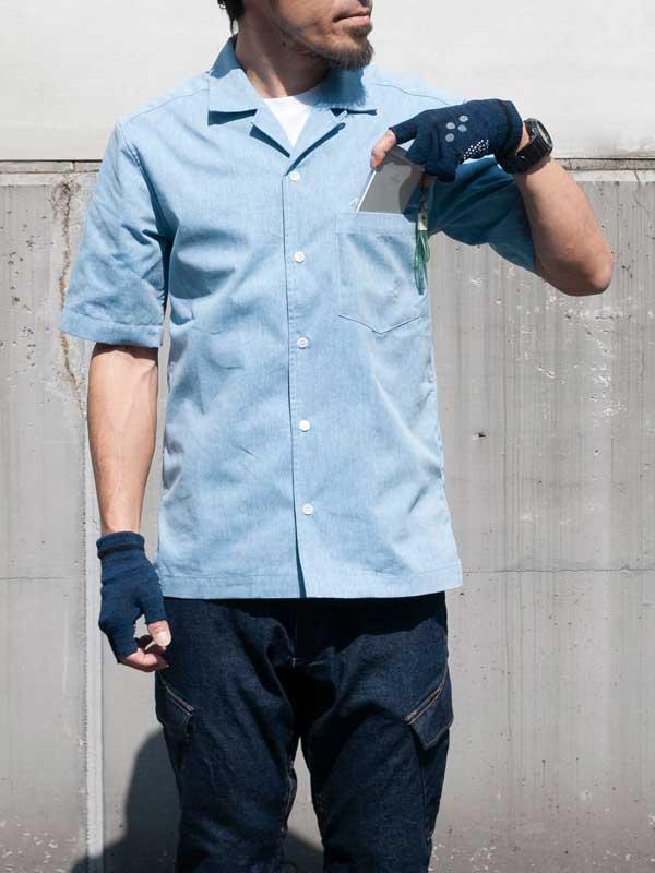 【Muddy Fox ワークシャツ】日本初量産MTBとコラボ 吸汗速乾 背ポケット 日本製 No.AR001【送料無料】