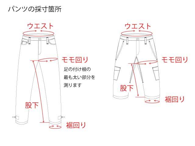 パンツの採寸箇所