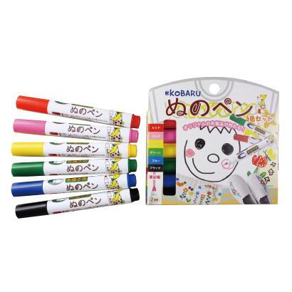 【代引き不可】 ぬのペン 6色セット アイロンをあてるだけで洗濯も出来るオリジナル布製品が出来る!