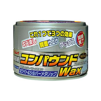 リンレイ コンパウンドWAX半ネリ ホワイト&シルバーメタリック 180g | ワックス
