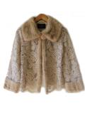 Rish Collection NYの毛皮屋さんが作る贅を尽くした極上レースにミンクのファーをあしらったジャケット【ベージュ  】