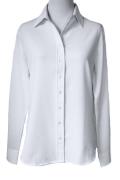 【予約販売】4/14正午~!Rish NY Collection(アイロン必要なしクレープデシンとろみ長袖胸元が開かない特許クチュール級シャツ)【ホワイト】