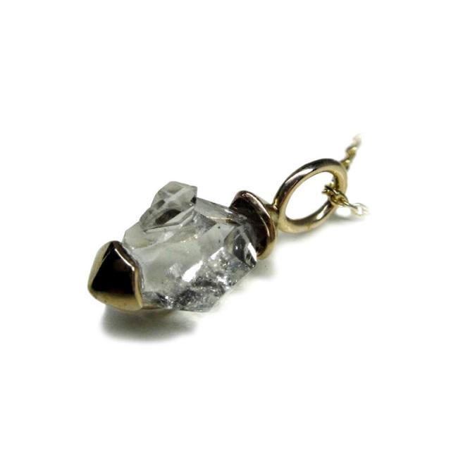 ハーキマーダイヤモンド ネックレス(型番A12) K10(YG) ※1点物