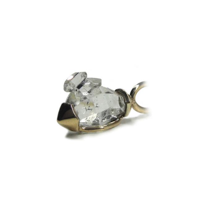 ハーキマーダイヤモンド ネックレス (型番B06) K10(YG)