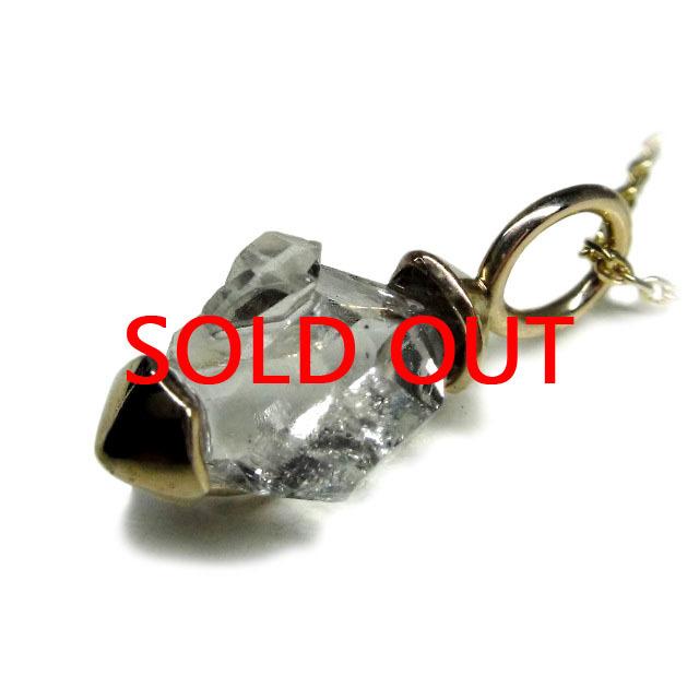 ハーキマーダイヤモンド ネックレス(型番A12) K10(YG)