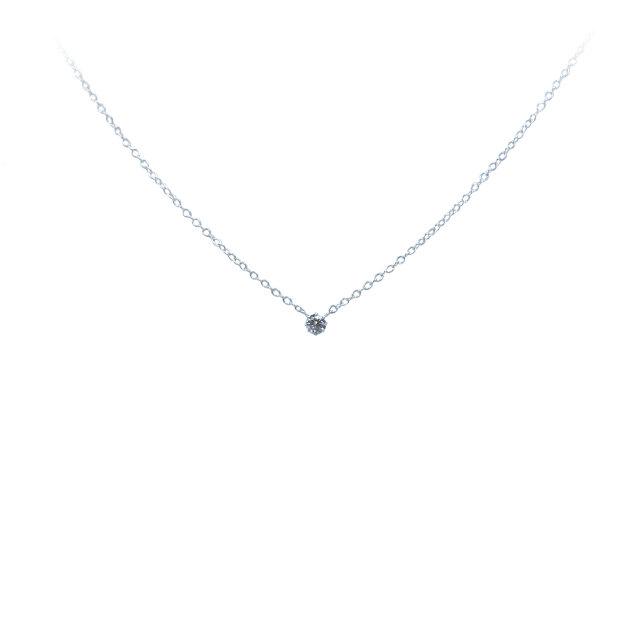 天然ダイヤモンド ネックレス(八本立爪型)SV925 0.07ct