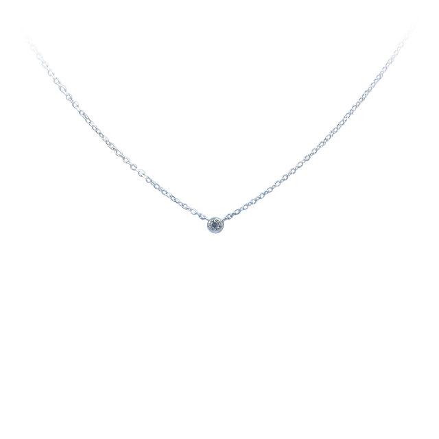 天然ダイヤモンド ネックレス(フクリン型)SV925 0.015ct