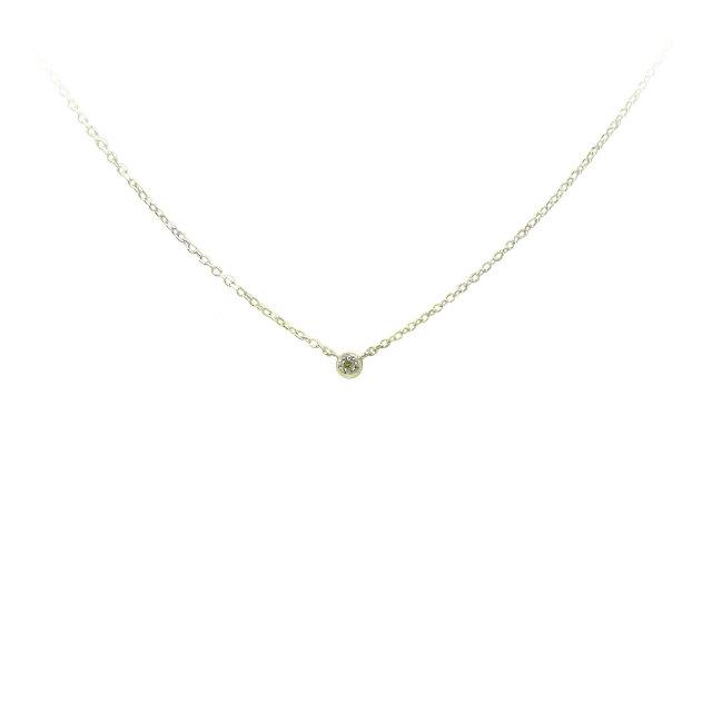 天然ダイヤモンド ネックレス(フクリン型)K10(YG) 0.015ct